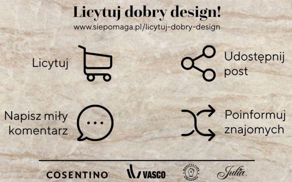 Siepomaga.pl! Pomagają: Cosentino, Manufaktura w Bolesławcu, Huta Julia i Vasco
